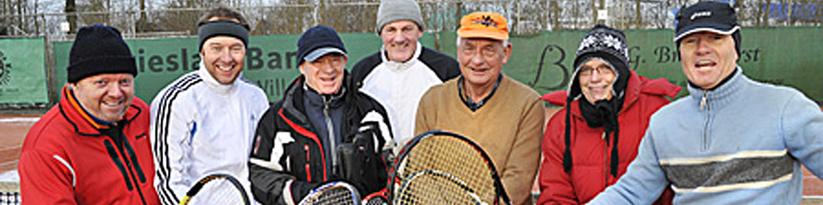 Tennissen in de winter